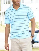 Sun River Striped Jersey Polo Shirt