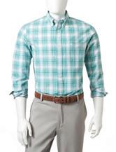 Dockers® Green & White Plaid Woven  Shirt