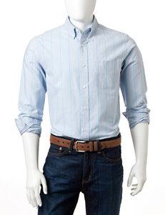 Dockers Light Blue Pinstriped Woven Shirt