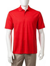 Haggar Striped Print Performance Polo Shirt