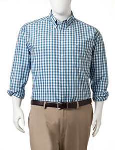 Dockers Bernadino Blue Casual Button Down Shirts