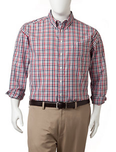 Dockers Men's Big & Tall Tattersall Woven Sport Shirt