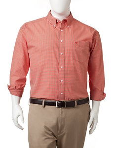 Dockers Orange Pop Casual Button Down Shirts