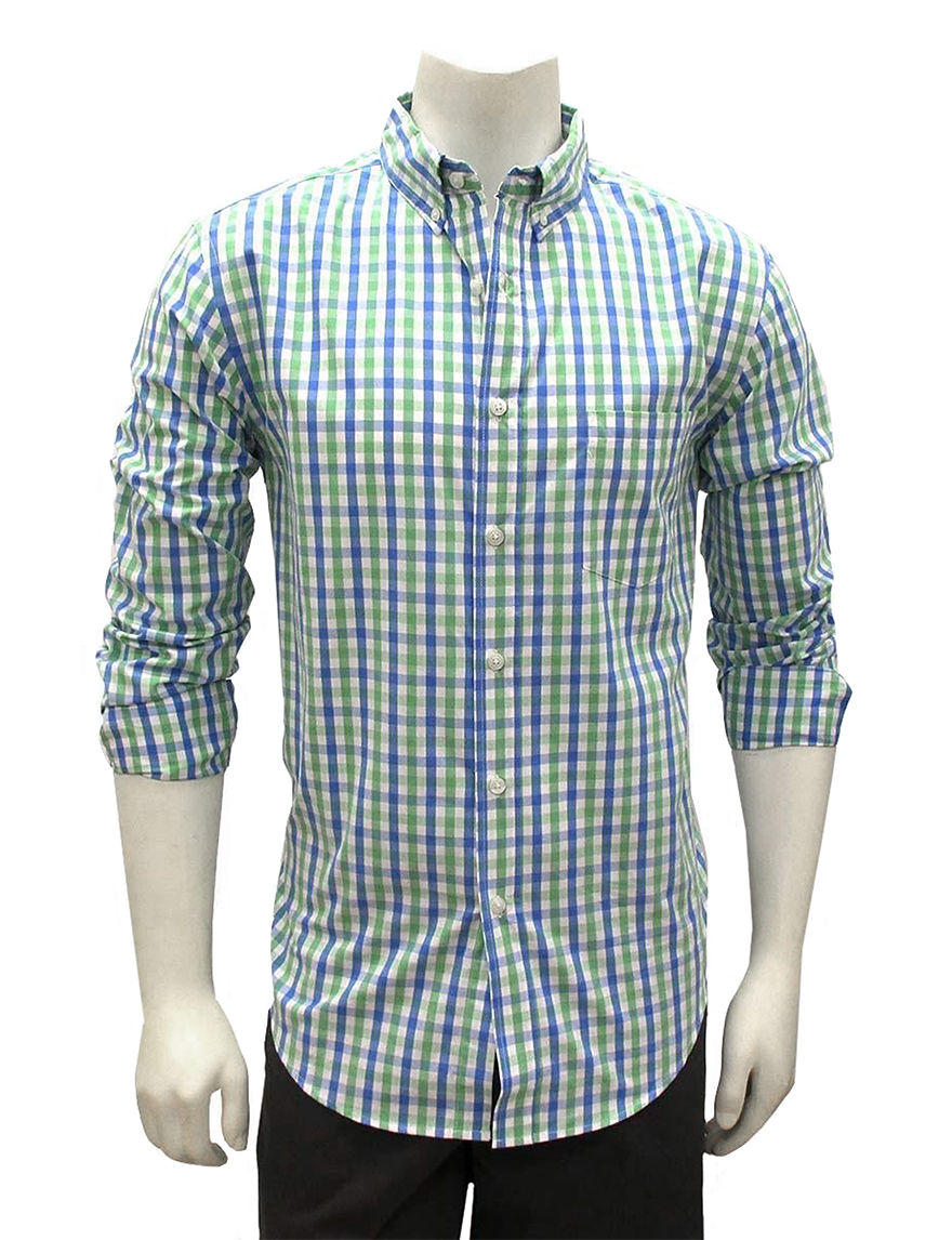 Chase Edward Green Casual Button Down Shirts