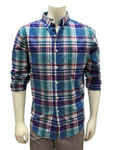 Chase Edward Multicolor Plaid Print Woven Shirt