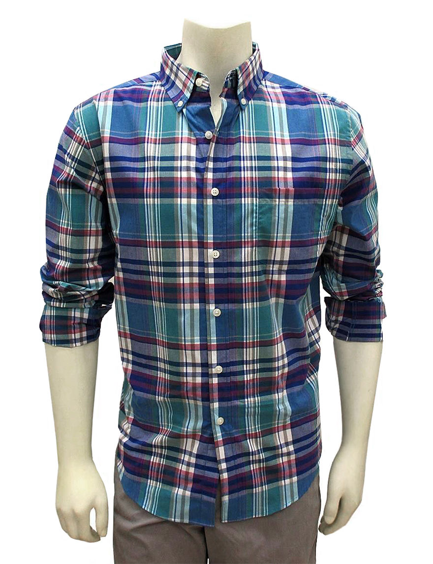 Chase Edward Purple Casual Button Down Shirts