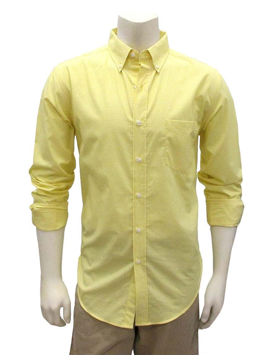 Chase Edward Yellow Casual Button Down Shirts