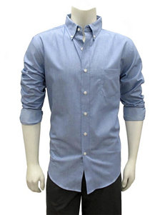 Chase Edward Light Blue Casual Button Down Shirts