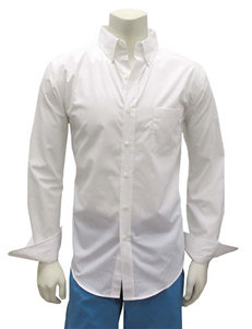Chase Edward White Casual Button Down Shirts