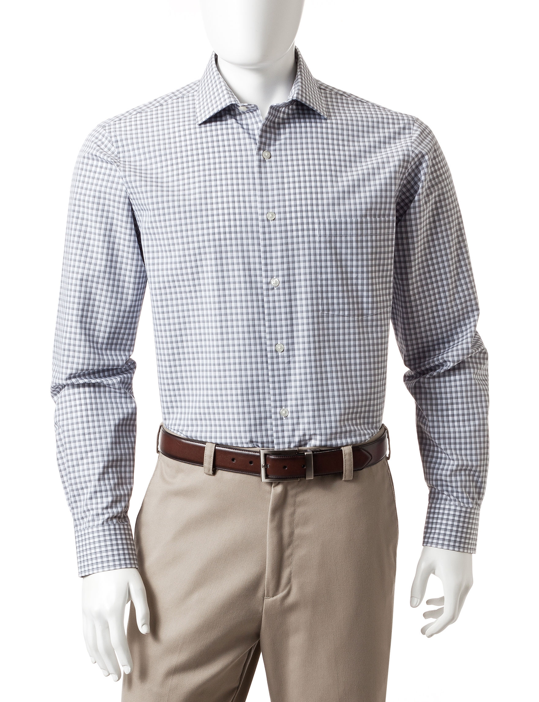 Van Heusen Grey Dress Shirts