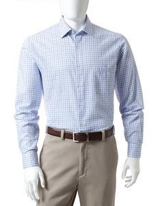 Van Heusen Mini Plaid Print Lux Dress Shirt