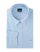 Arrow Blue Ocean Plaid Print Dress Shirt