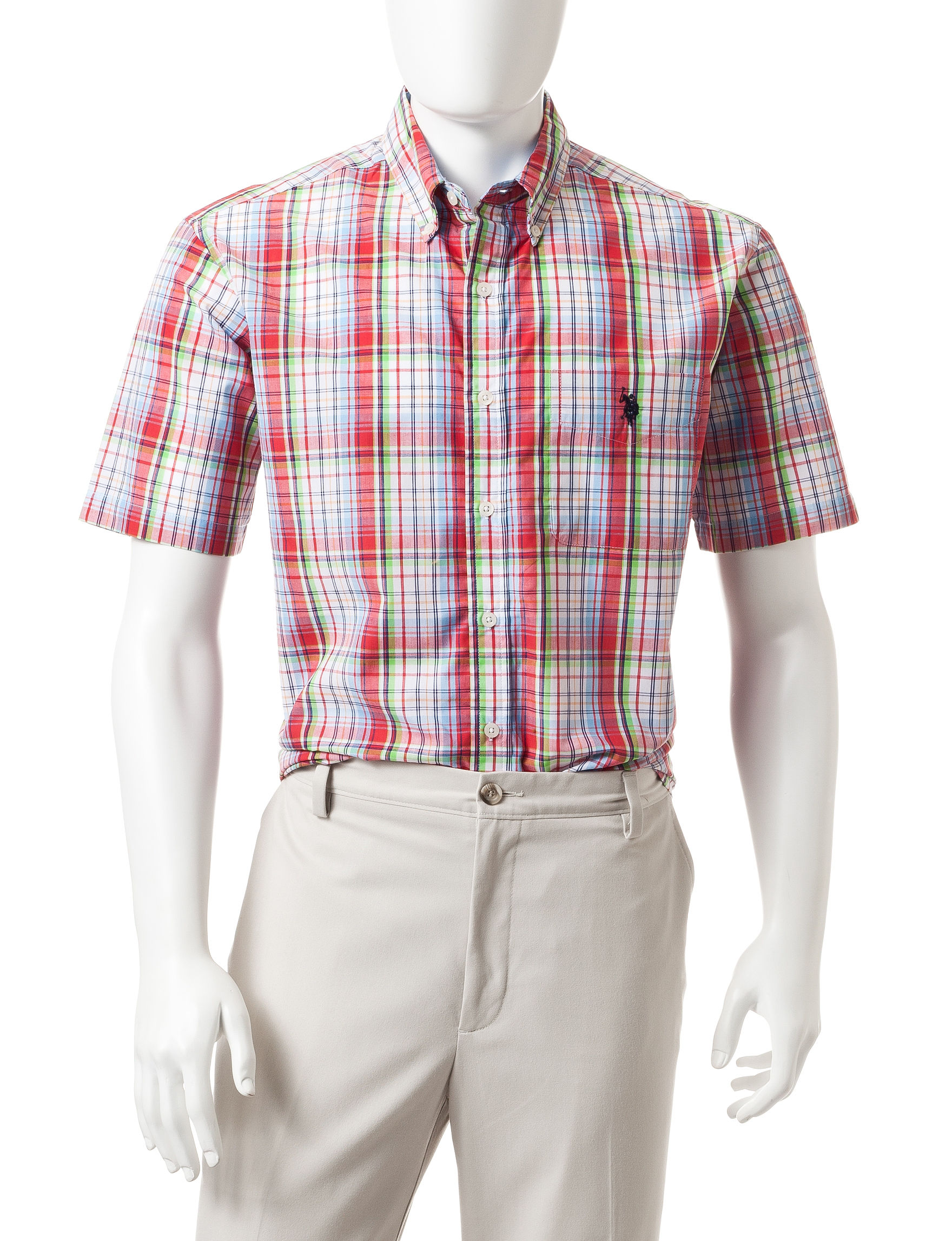 U.S. Polo Assn. Pink Casual Button Down Shirts