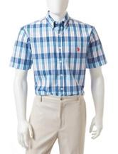 U.S. Polo Assn. Multi Tonal Plaid Print Woven Shirt