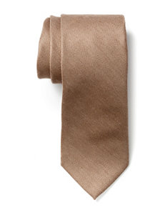 Van Heusen Blended Solid Color Taupe Tie