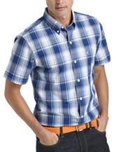 Izod Seaport Plaid Print Woven Shirt