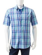 Sun River Plaid Print Woven Shirt