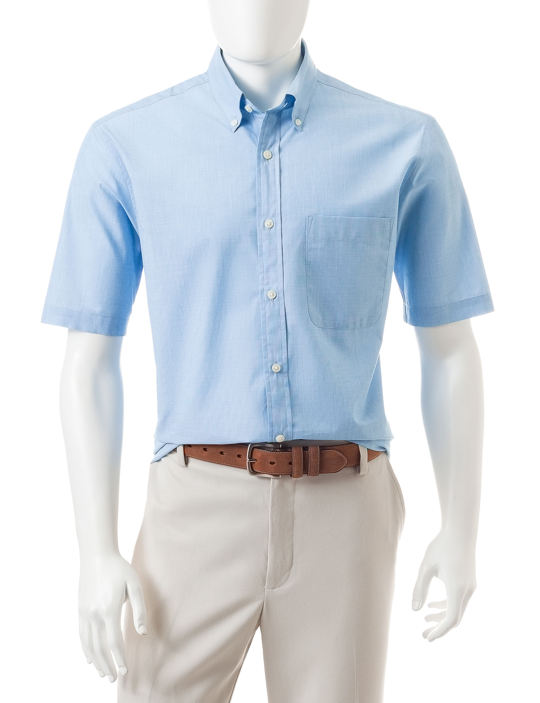 Sun River Cosmic Turquoise Casual Button Down Shirts