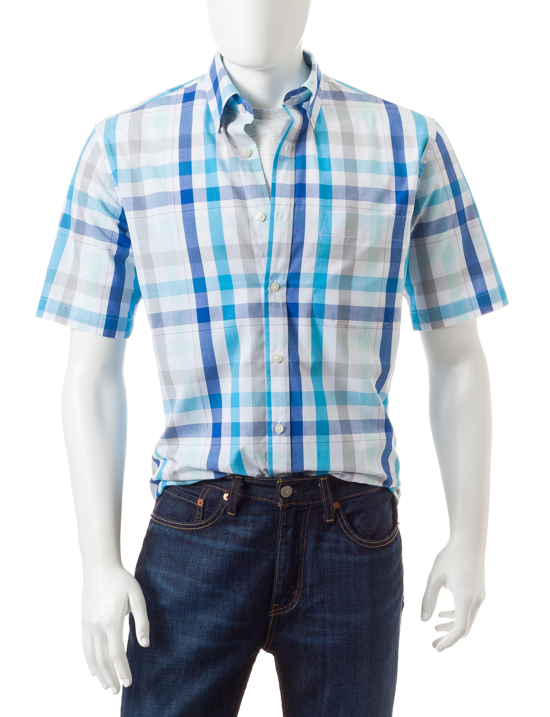 Sun River SIlver Casual Button Down Shirts