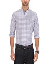 Nautica Purple Oxford Tattersall Woven Shirt
