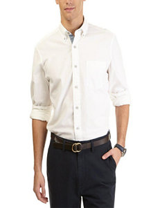 Nautica White Casual Button Down Shirts
