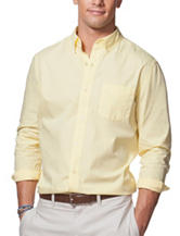 Chaps Solid Color Yellow Woven Shirt