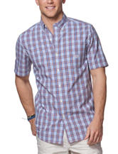 Chaps Multicolor Plaid Print Woven Shirt