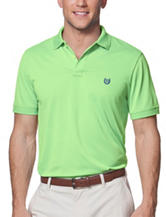 Chaps Solid Color Light Green Performance Polo Shirt