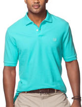 Chaps Solid Color Green Pique Polo Shirt