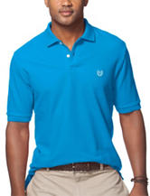 Chaps Solid Color Blue Pique Polo Shirt