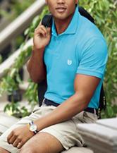 Chaps Blue Pique Polo Shirt