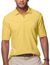 Chaps Solid Color Yellow Pique Polo Shirt