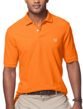 Chaps Solid Color Orange Pique Polo Shirt