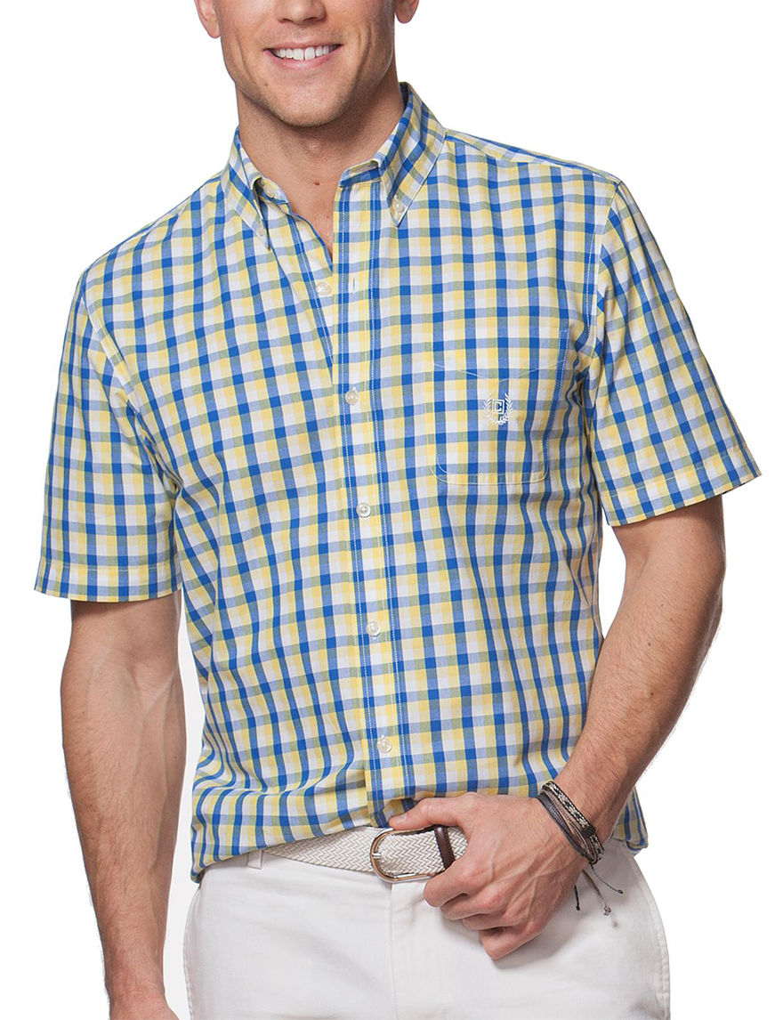 Chaps Yellow Casual Button Down Shirts