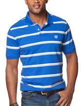 Chaps Blue & White Stripe Print Polo Shirt