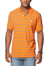 Chaps Multicolor Stripe Print Polo Shirt