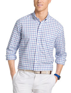 Izod Dusted Peri Casual Button Down Shirts