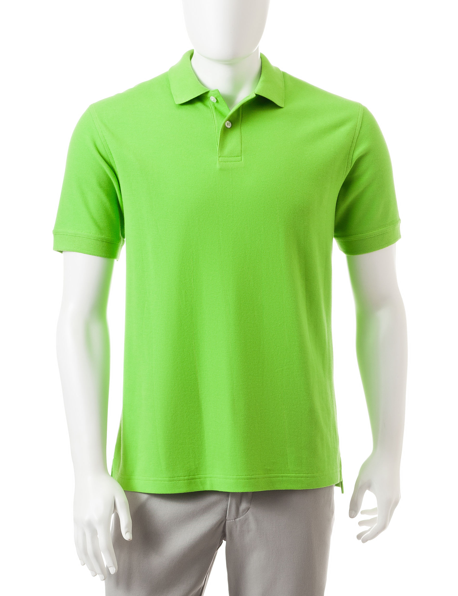 Sun River Lime Casual Button Down Shirts Polos