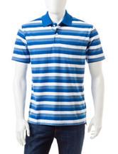 Sun River Striped Pique Polo Shirt