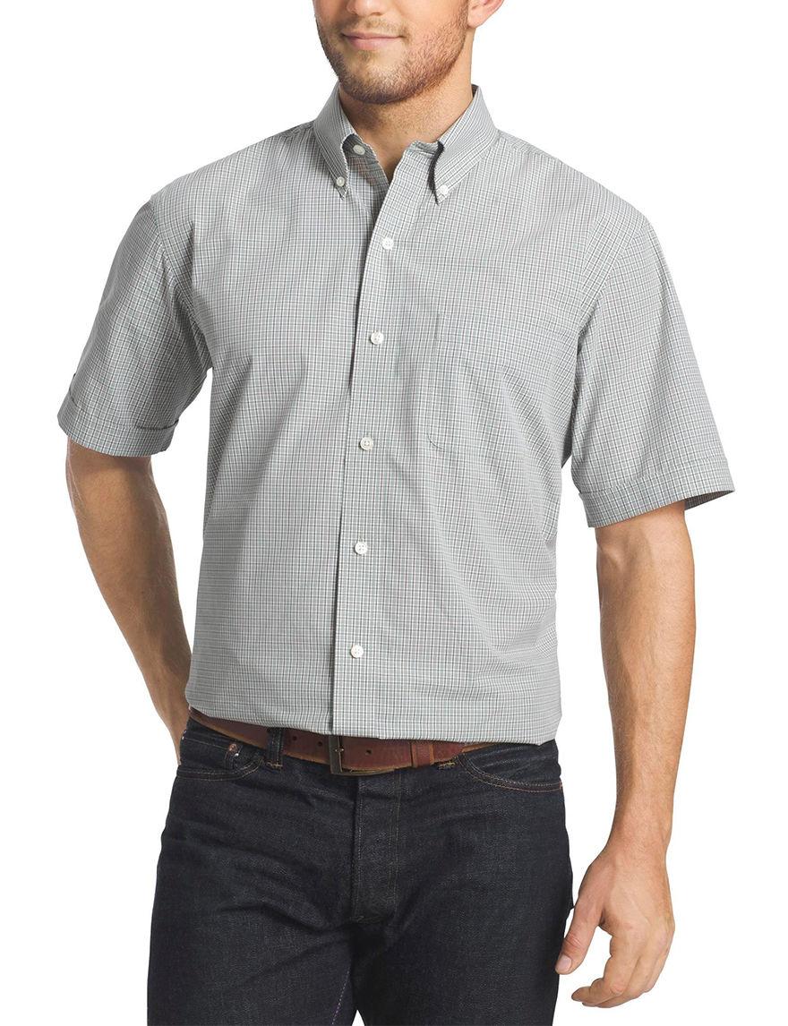 Arrow Green Milieu Casual Button Down Shirts