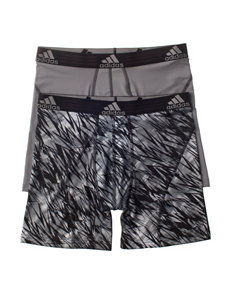 adidas® 2-pk. Black & Grey Sport Boxer Briefs
