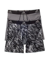 adidas® 2-pk. Black & Grey Sport Boxer Briefs