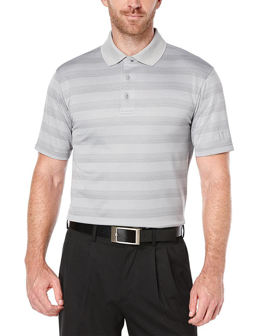 PGA TOUR Light Grey Polos