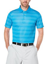 PGA Tour® Tonal Striped Print Polo Shirt