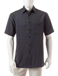 Haggar Black Casual Button Down Shirts