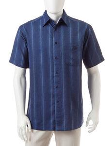 Haggar Navy Casual Button Down Shirts