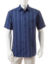 Haggar Striped Microfiber Woven Shirt