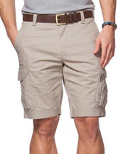 Chaps Bedford Solid Color Khaki Cargo Shorts