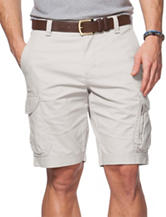 Chaps Bedford Solid Color Stone Cargo Shorts
