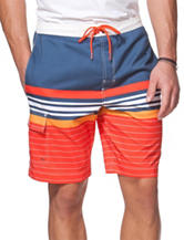 Chaps Multicolor Striped Print Swim Shorts